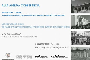 ARCHITECTURE AND CINEMA. THE IMAGE OF THE SPANISH RESIDENTIAL ARCHITECTURE DURING THE FRANCOIST REGIME